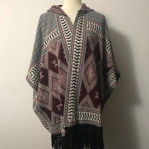 Topshop oversized Aztec Cardigan